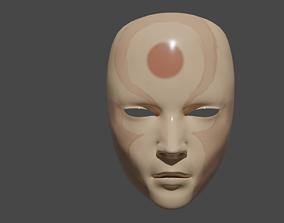 Human mask 3D asset