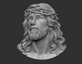 Jesus Head pendant 2 3D print model