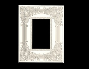 3D printable model Beautifully embossed picture frame