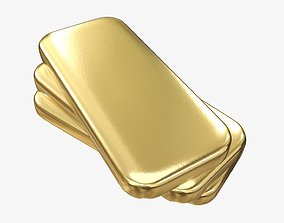 Gold bars 01 3D
