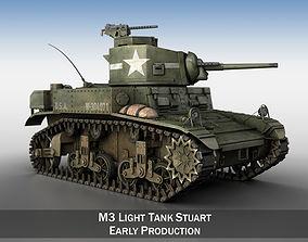 M3 Light Tank Stuart 3D