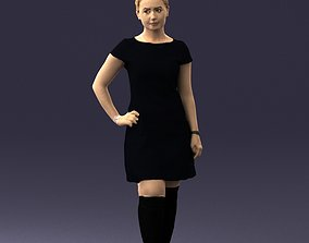 Blonde boots and black dress 0679 3D Print Ready