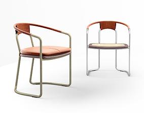 Bassam Fellows The Geometric Side Chair CB-450 3D model