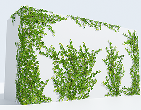 LowPoly Ivy 3D asset