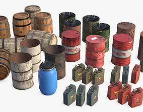 Liquid Containers Collection 3D