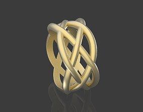 3D print model braided pattern ring printable