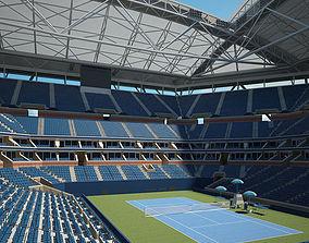 3D model Arthur Ashe Stadium
