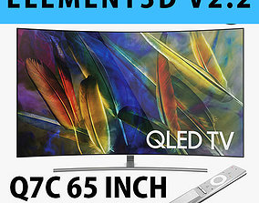 E3D - Samsung Q7C 65 Inch Remote Curved QLED 4K TV 3D