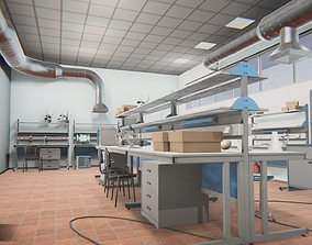 Laboratory - interior and props 3D asset