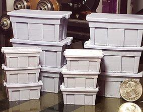 Miniature dollhouse storage bins 3D print model