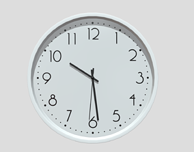 font Wall Clock 3D model VR / AR ready PBR