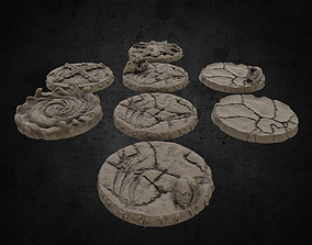 Printable Miniature Bases - 32mm Barbaric Theme