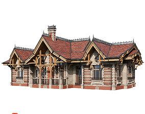 Classic modern house 2 3D