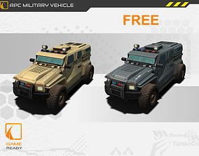 APC Military Vehicle Game Asset 3d model VR / AR ready