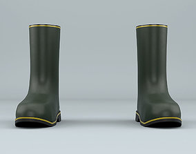 Biohazard protective rubber boots 3D model