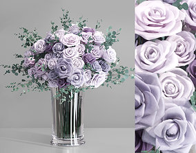 3D Realistic Lavender Europe Roses