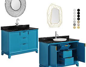 3D model Talyn 48 Teal countertop sink