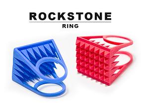 3D print model RockStone ring - Size 6