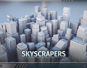 C1 - Skyscrapers - 22 MODELS 3D asset