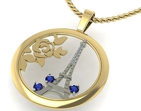 pendant i love Paris diamond 3D printable model