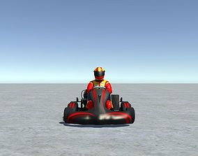 Low Poly Kart With Player 9 3D model