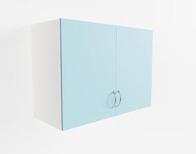 Vintage Kitchen Wall Cabinet 3D