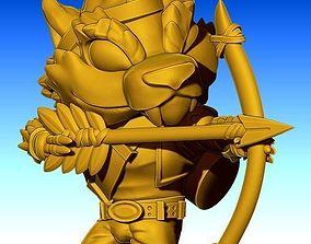 3D printable model wolf archer