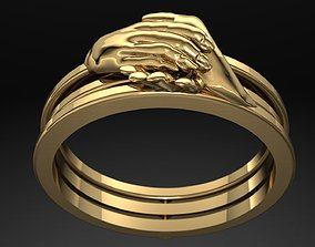Shakehand Ring with Mechanism of 3D printable model 1