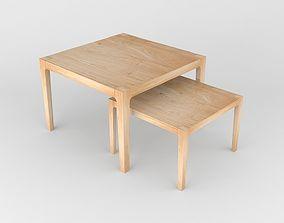 3D model Sanos wooden table