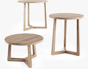 Flexform Jiff coffee table 3D model