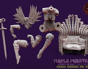 fantasy 3D printable model PURPLE PRIESTESS