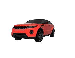 Range Rover Evoque with PBR textures 3D asset