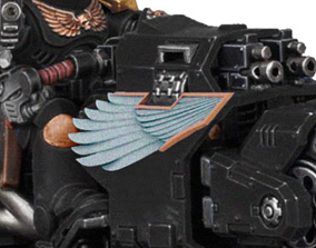 3D print model Wings for converting primaris outriders to