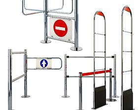 3D model Entry System Set
