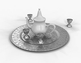 3D Traditional Arabic Teapot With Cups
