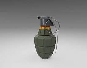 American Frag hand grenade 3D asset