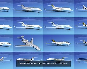 3D Bombardier Global Express Private Jets