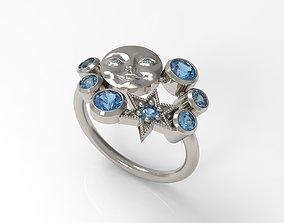 Sun Ring 3D print model jewellery