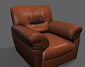 low-poly Low Poly Armchair Model