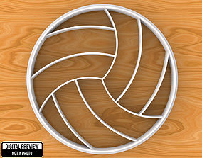 3D printable model Volley Ball Cookie Cutter