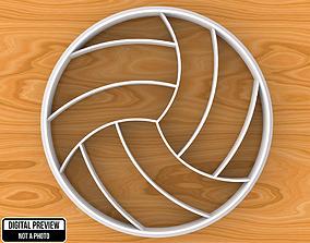 3D print model Volley Ball Cookie Cutter