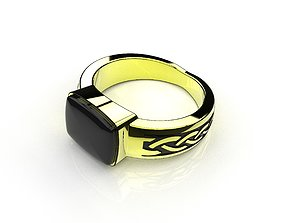 beautiful 3D print model Signet ring