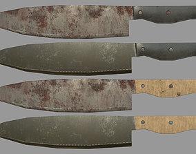 3D asset Chef Knives