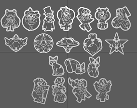 tools Sailor Moon 3D Printer Cookie Cutters