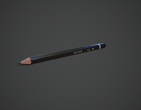 3D model VR / AR ready Pencil