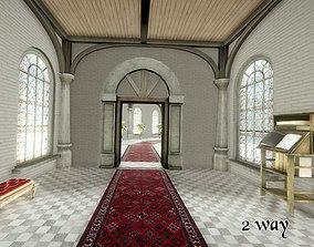 3D asset low-poly Fantasy Corridors