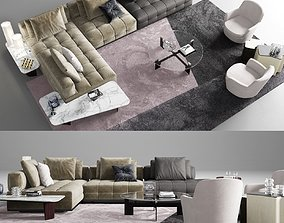 Minotti Lawrence Clan Seating 2 3D model