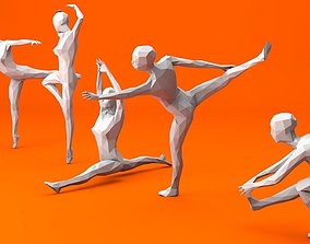 3D model 5 Ballet and Skating Lowpoly Women