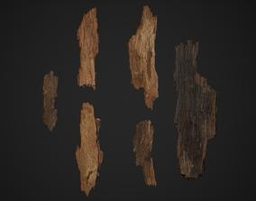 3D asset Bark Debris 4K Photoscanned