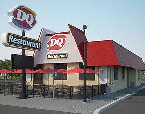 3D model Dairy Queen Restaurant 03